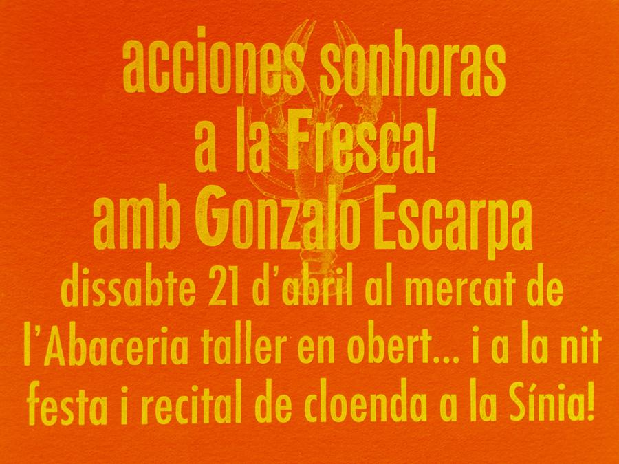 live recording - acciones sonhoras #6 gonzalo escarpa